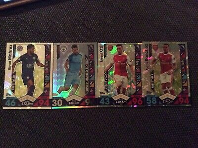 Topps Match Attax 2016/17 4 Cards Over 94*