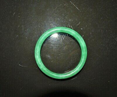 Vintage Chinese icy translucent green jadeite round bangle jade bracelet
