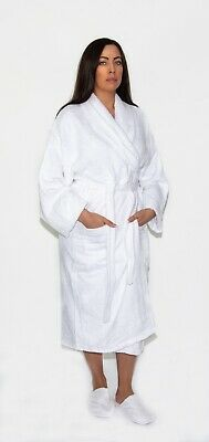 Highliving ® Unisex Terry Towelling Egyptian Cotton Dressing Gown Hotel Spa Bath
