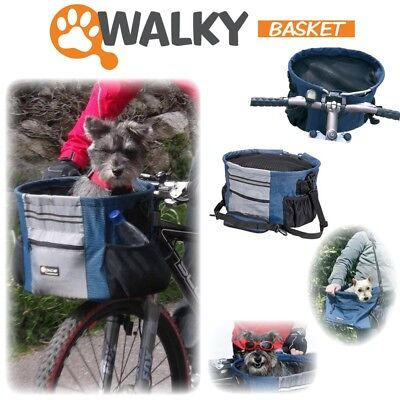 Walky Dog Basket Pet Dog Bicycle Basket Carrier Easy Mounting Up to 15lbs