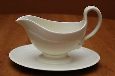 Wedgwood of Etruria & Barlaston Edme Gravy Boat and Attached Underplate Old Logo