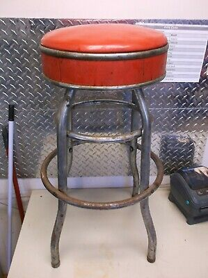 Fantastic Vintage Cosco Stool Parts Cosco Stool Replacement Red Metal Beatyapartments Chair Design Images Beatyapartmentscom