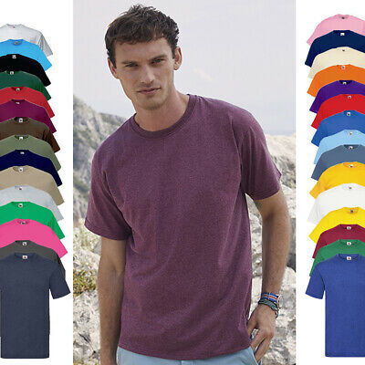 5er Set Fruit of the Loom Valueweight T-Shirt - 33 Farben - S bis 5XL - 610360
