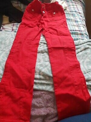 marks and spencer limited collection age 10-11 stretch red trousers
