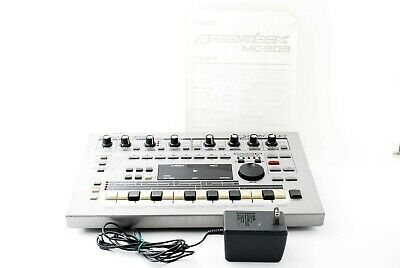 Roland MC-303 Sequencer Dance Music Drum Machine GrooveBox W/100V Adapter Tested