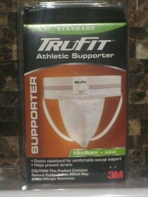Athletic Supporter Jock Strap MEDIUM Elastic Sports Gear Mens M Trufit