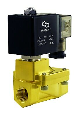 """Brass High Pressure 230 PSI Electric Solenoid Process Valve 3/8"""" Inch 12V DC NC"""