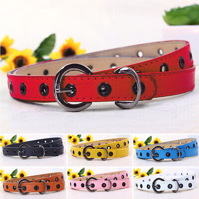 Toddler Waistband Kids Candy Color Belt PU Leather Boys Adjustable Accessories