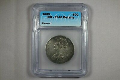 1835 Capped Bust Half Dollar 50 Cent Icg Xf40