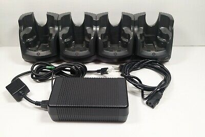 CRD7X00-4 Motorola Symbol Quad Dock Charging Cradle For MC70/75 w/ Power Supply