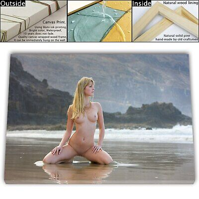 "16""x24""Nude Woman HD Canvas prints Framed Painting Home Decor Picture Wall art"