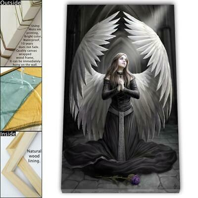 """16""""x26"""" Angel Wings HD Canvas prints Framed Painting Home Decor Picture Wall art"""