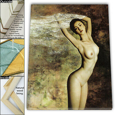 """16""""x18""""Naked Woman HD Canvas print Framed Painting Home Decor Picture Wall art"""
