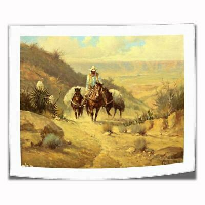 """16""""x22""""Lonely cowboy Paintings HD Print on Canvas Home Decor Wall Art Pictures"""