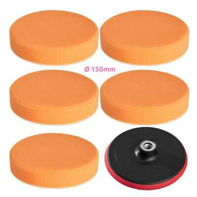 "6"" Car Polish Waxing Sponge Foam Pad Polisher Buffer Wheel M14 Drill Adapter Kit"