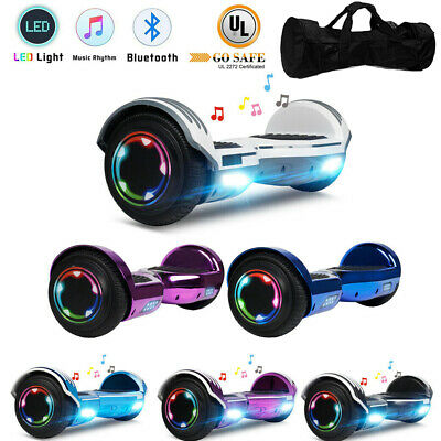 "6.5"" Hoverboard Bluetooth Electric Self Balance Scooter with Bag Dual 300W"
