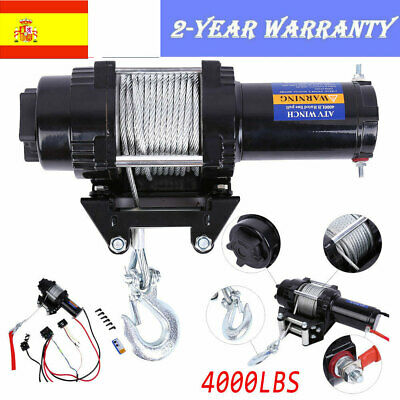 Electric 4000lb WINCH 12V Cable de acero Winch potente Quad Bike ATV Boat Winch