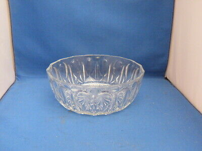 Collectable Heavy Clear Transparent Glass Fruit Bowl H7cm W20.5cm France