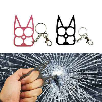 Pro Classic Cat Self-Defense Key Chain Keyring Emergency Metal Tool Women Gift