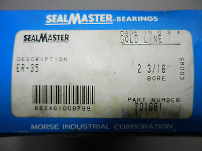Sealmaster Roulement à Bille / Type:ER-35 / 701081/Neuf /Emballage D'Origine