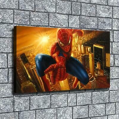 "12""x22""City spider-man HD canvas home decor wall art paintings pictures photo"