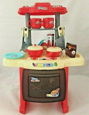 Kitchen Cooking Toy Toddler Children Kids Cooker Role Play Set Kit UK