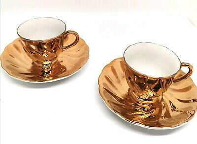 Vintage Wellington Gold teacup and saucer set of 2 collectable, deco fine china