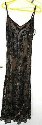 Phase Eight Gorgeous Brown Silk Blend Evening Long  Dress Size 14 ❤️