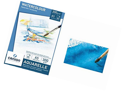 Canson 200005788 - Watercolour Drawing Paper, White, (A5, 14.8 x 21 cm, 300 gsm)