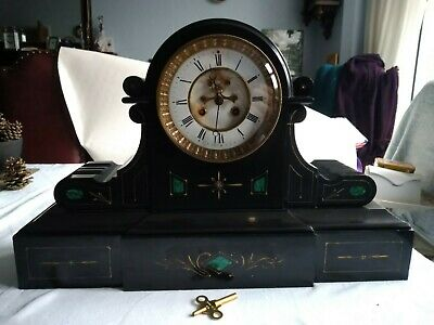 French Victorian Drum Head Mantle Clock.