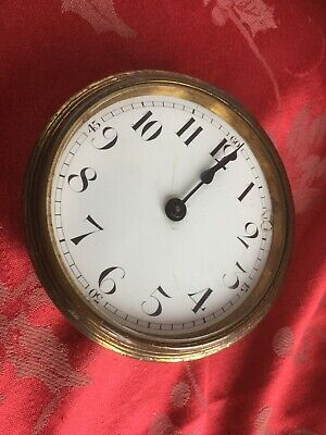 Buren 8 Day Platform French  Antique Clock  Movement  Enamel Dial Bezel Glass