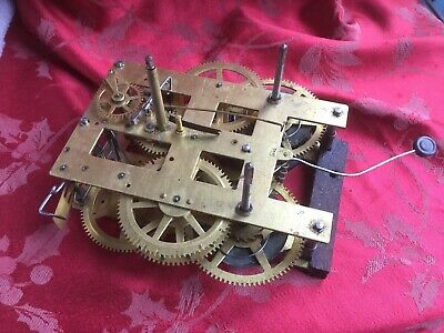 Good Clean 9 1/4 New Haven Clock Movement For Spares Or Repair