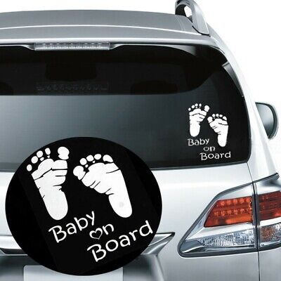 New Auto Vinyl Graphics Window Vehicle Decal Car Sticker Baby on Board