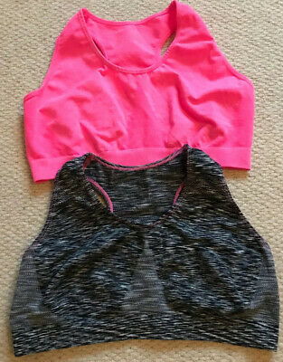 PRIMARK  Girls Set Of 2 Cropped Gym / Workout Top Age 12-13 Age 12 Age 13 BNWOT