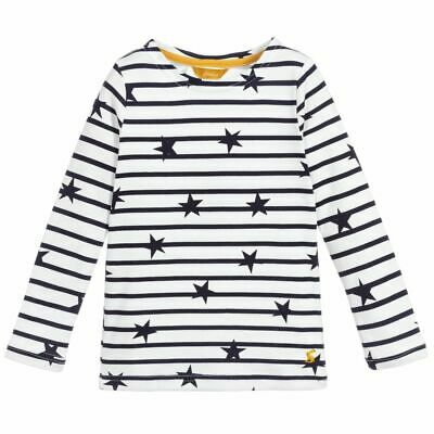 Joules Harbour Print Star - Navy / Cream Girls Christmas