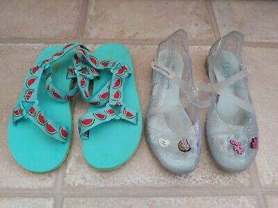 Girls Next Sandals And Skechers Jelly Shoes Size 3