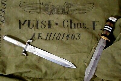 WW II Theater Knife Vet Grouping -WW2 Fighting -Dagger/Duffel/Antique Trench Art