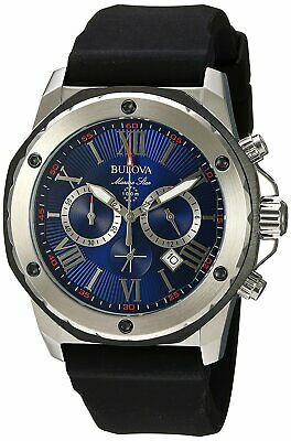 Bulova Men's Quartz Marine Star Chronograph 6 Hand Calendar 44mm Watch 98B258