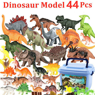 44pcs Large sized Dinosaur Set Playset Animal Action Figures Toys Kids Xmas Gift