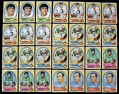 1970 Topps Football Cards All STARS DUPES OF THE BEST! (92pcs) EX