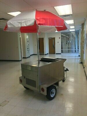 Ice Cream Frozen Dessert or Heated Products Towable Vending Push Cart