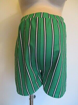 Boohoo Maternity Green & White Stripe Over Bump Shorts Size 12 Bnwt
