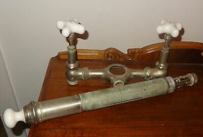 Antique Bathtub Nickle Plated Brass Hardware Faucet Porcelain Knobs Waste Drain