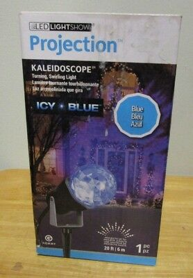 Gemmy LED Lightshow 2 ft Glimmer Icy Blue Crystal Swirl Doe Sculpture NIB