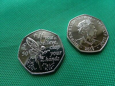 6 coins - 2019 Peter Pan 50 pence * NEW / UNC Isle of Man * TINKERBELL 6 coins