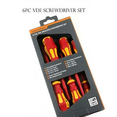 6 PCS VDE Certified ELECTRICIAN Insulated SCREWDRIVER SET 1000V Electrical Tool