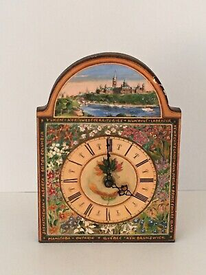 """Clock Mantle/Wall """"The Shield Clock Collection"""" Canadian Clock Art"""