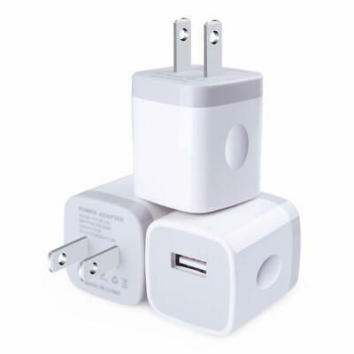 3x White 1A USB Power Adapter AC Home Wall Charger US Plug FOR iPhone 5 6 7 8 XR