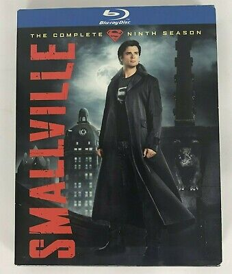 Smallville Complete 9th Season DVD Blue Ray Disk Set Of 4 2010