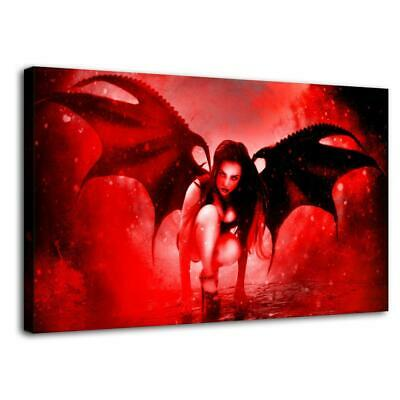 "16""x26""Gothic Angel HD Canvas prints Painting Home Decor Picture Room Wall art"